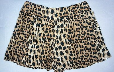Wet Seal Zenobia Womens Shorts Skorts Leopard Print Plus Size 2X or XXL