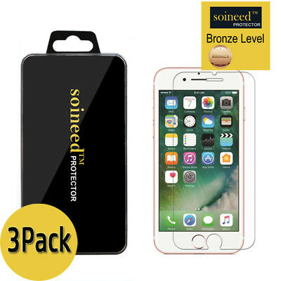 3-Pack SOINEED For Apple iPhone 8 8 Plus Tempered Glass Screen Protector