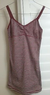 Wet Seal Womens Junior S Small Maroon Stretch Tank Top Sleep Cami Shirt NWT