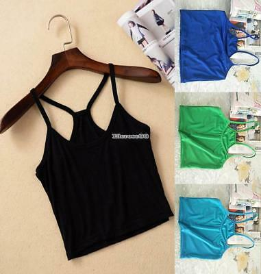 FRAUEN CASUAL WORKOUT YOGA KLEIDUNG ACTIVEWEAR SOLID SPORT CAMI TOPS ELR8