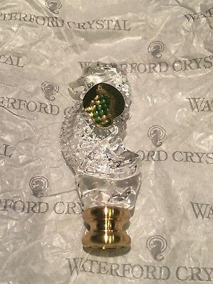 One Waterford Crystal Seahorse Lamp Finial Brand New Mint Condition Low price