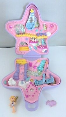 Vintage 1992 Polly Pocket Bluebird Fairy Fantasy Compact 100 Complete