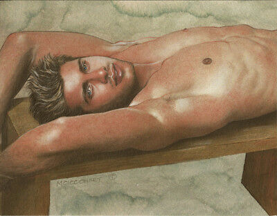 PRINT of Artwork Drawing Painting Male Gay Interest MCicconneT  PASSERBY