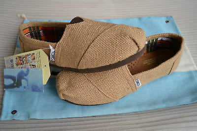 New with tag Toms NATURAL BURLAP WOMENS CLASSICS Shoes US size 6-5 to size 9