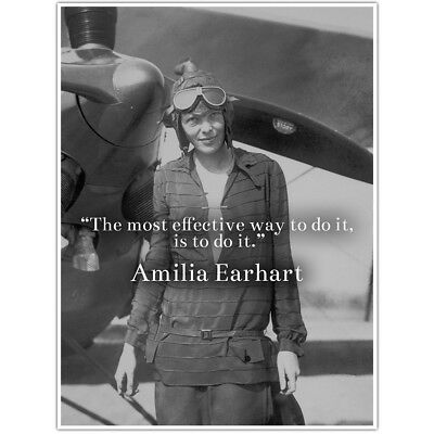 Amelia Earhart Motivation Quote Wall Art Poster