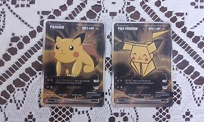 Pikasaur and Pika - Porygom Fusion pokemon cards