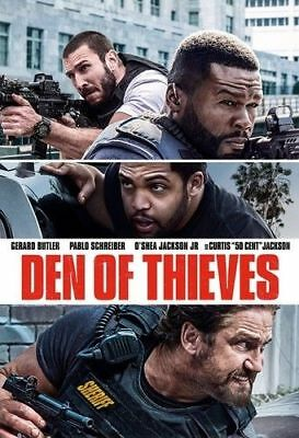 Den Of Thieves DVD 2018  Unrated Version Brand NEW 50 Cent FREE SHIPPING