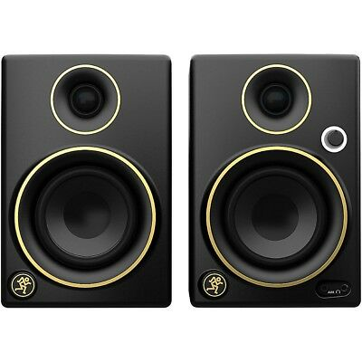 Mackie CR3 Limited Edition Gold Trim 3 in- Multimedia Monitors Pair