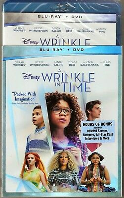 Authentic Disney A Wrinkle In Time Blu-ray - DVD Movie Brand New with Sleeve