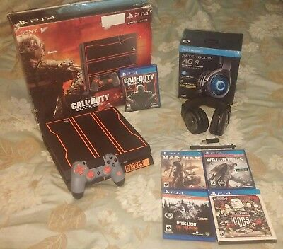 PS4 BLACK OPS 3 LIMITED EDITION BUNDLE AFTERGLOW HEADSET MIC FOUR GAMES INCLUDED