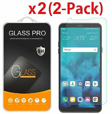 2-Pack For LG Stylo 4 2018 Tempered Glass Screen Protector