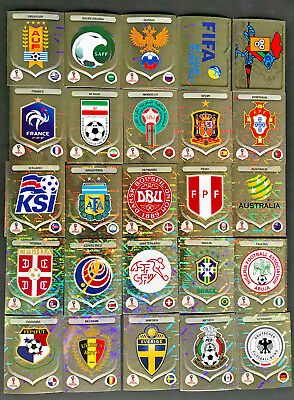 PANINI 2018 FIFA WORLD CUP FOIL STICKER  EMBLEMS LOGOS LEGENDS  PICK FROM LIST