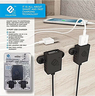 EZ CHARGER  DUAL USB FAST - SMART FURNITURE ADD ON CHARGER  QUALCOMM 3-0 CHIP
