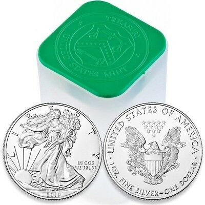 2019 1 OUNCE AMERICAN SILVER EAGLE GEM BU 1 SILVER DOLLARINVEST TODAY-999