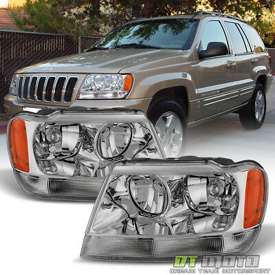 1999-2004 Jeep Grand Cherokee Limited Headlights Replacement 99-04 Left-Right