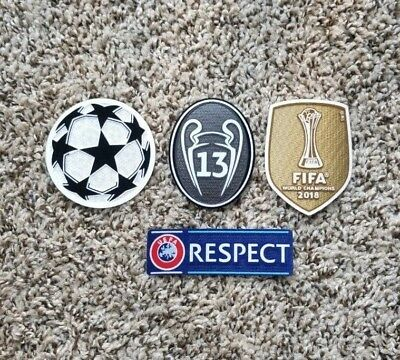 2018 UEFA CHAMPIONS LEAGUE Real Madrid  SET Soccer patch 13 TROPHY badge  patch