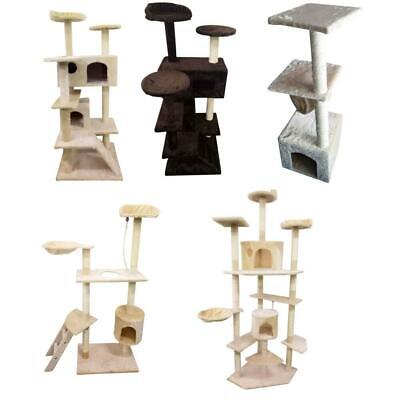6052 Cat Tree Play House Tower Condo Furniture Scratch Post Toy Bed Pet Kitty