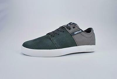 Supra Shoes Mens Stacks Charcoal White Sneakers S44027-CHR 1398