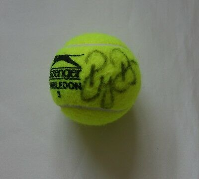 Roger Federer Autographed Wimbledon Tennis Ball with Certificate of Authenticity