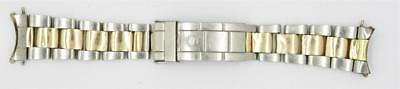Rolex Stainless Steel - 18K Yellow Gold Oyster Submariner Band ONLY Parts 9315