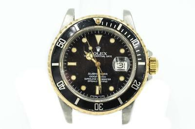 Mens Rolex Two-Tone Submariner Ref 16800 Circa 1982