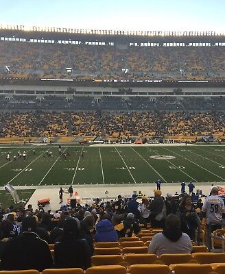 2 Tickets Tix Pittsburgh Steelers New England Patriots Heinz Field Lower Level