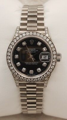 Rolex 79159 Ladies 18K white gold super pres-factory