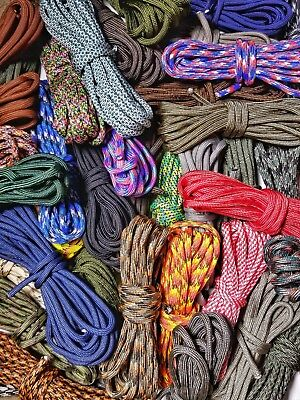 Paracord Variety Pack - 100 Feet of 10 Random Colors