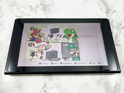 Nintendo Switch 32GB Gray Original Replacement System Console Tablet Only