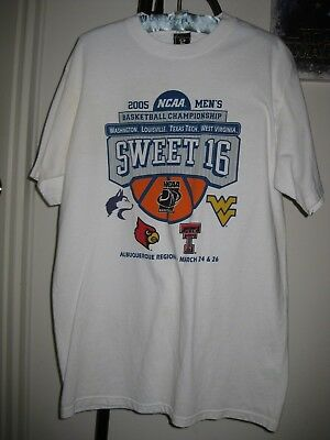 2005 NCAA Mens College Basketball Tournament Sweet 16 Round T Shirt Size Large