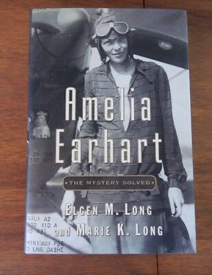 Amelia EarhartMystery Solved Elgen - Marie Long signed Famous AviatorFlight