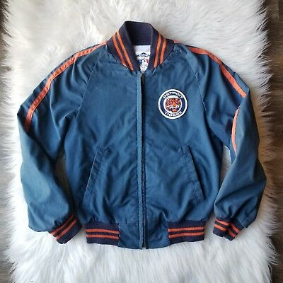 VTG Detroit Tigers Youth Blue Orange MLB Logo Starter Jacket 12