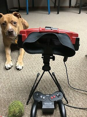 NINTENDO VIRTUAL BOY Console Controller Stand Red Alarm Tested working 100
