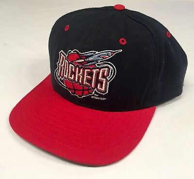 Vintage 90's Houston Rockets New Era NBA  Snapback Hat Made In USA