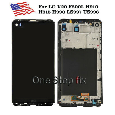 LG V20 VS995 H918 LS997 H910 H915 F800 LCD Display Touch Screen Digitizer Frame