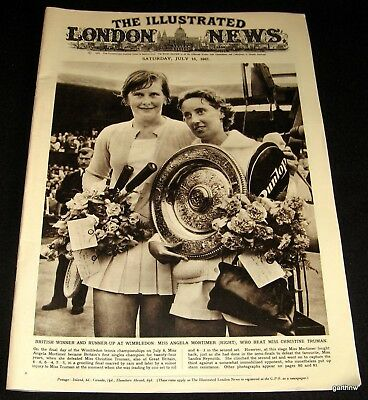 TENNIS 1961 WIMBLEDON 1961 CHAMPIONS PICTORIAL ROD LAVER - ANGELA MORTIMER