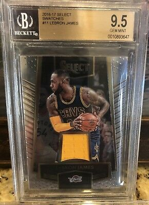 Lebron James 2016-17 Select Swatches Jersey Patch BGS 9-5 Gem Mint