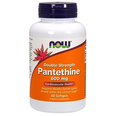 NOW Foods Pantethine 600 mg 60 Softgels