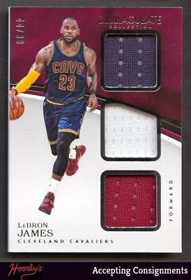 2016-17 Immaculate Collection Lebron James Triple Jersey Relic 4499 CAVALIERS