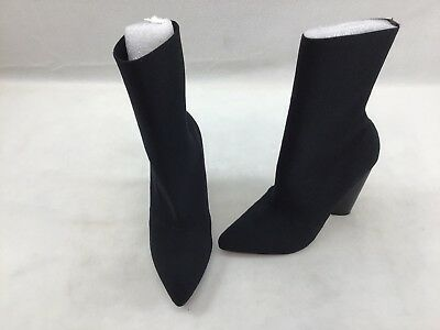 Steve Madden Capitol Black Knit Stretch Ankle Booties Size 5-5M F2397