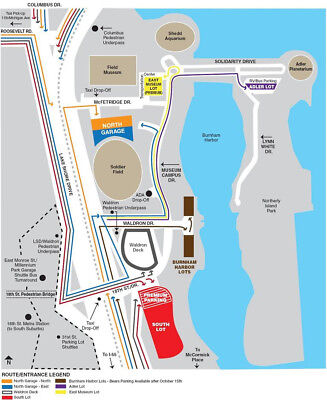 CHICAGO BEARS VS- Green Bay Packers  NORTH GARAGE PARKING PASS