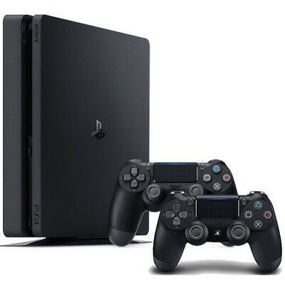 PlayStation 4 Slim 1TB Console - Extra Jet Black DualShock 4 Wireless Controller
