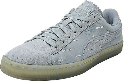 Puma Mens V2 Pink Dolphin Ankle-High Suede Fashion Sneaker