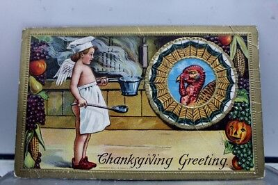 Thanksgiving Greetings Postcard Old Vintage Card View Standard Souvenir Postal