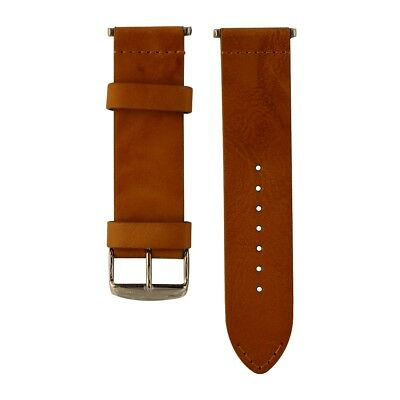 Clockwork Synergy Watch Band for Apple Watch 42mm Vintage Saddle Leather Brown