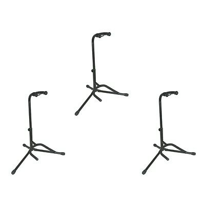 Musicians Gear Electric Acoustic and Bass Guitar Stands 3-Pack