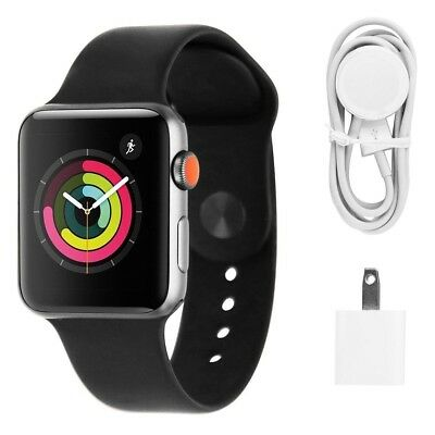 Apple Watch Series 3 42mm Space GrayBlack Sport Band GPS - Cellular LTE