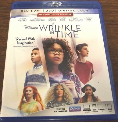 A WRINKLE IN TIME BLU-RAY FAST FREE SHIPPING
