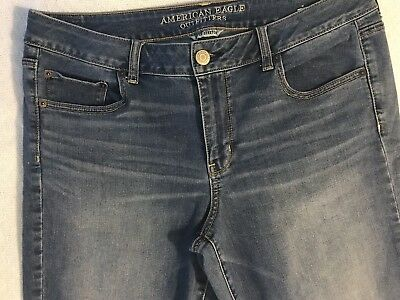 American Eagle Outfitters Super Stretch Straight Jeans Womens Size 16 Short