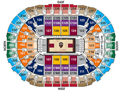 2 Tickets Cleveland Cavaliers Cavs vs New York Knicks 211 Section 111